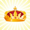 Gold heraldic crown vector illustration of Stock Photos