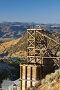 Gold Hill Mine Head frame Royalty Free Stock Photo