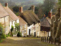 Gold Hill, Shaftesbury, England Royalty Free Stock Photo
