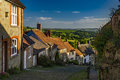 Gold Hill in the village of Shafetsbury, rural Dorset, UK Royalty Free Stock Photo