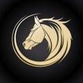 Gold Horse Logo.