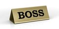 Gold identification plate of the boss position Stock Image