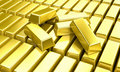 Gold ingots Royalty Free Stock Images