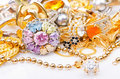 Gold jewellery Royalty Free Stock Photo