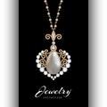 Gold jewelry pendant on black Royalty Free Stock Photo