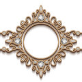 Gold jewelry vignette vintage background diamond swirly frame Royalty Free Stock Images