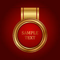 Gold label with space for text Stock Photo