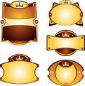 Gold labels set Royalty Free Stock Images