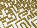 The gold labyrinth Royalty Free Stock Photo