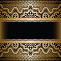 Gold lace background on black vintage Royalty Free Stock Photos