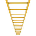 Gold ladder isolated render on white background Royalty Free Stock Photo
