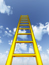 Gold ladder in the sky Stock Image