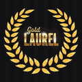 Gold Laurel Vector. Shine Wreath Award Design