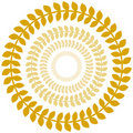 Gold Laurel Wreath Circle Set Royalty Free Stock Photo