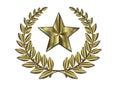 Gold Leaf Crest And Golden Star