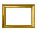 Gold Leaf Picture Frame Royalty Free Stock Photo