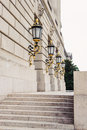 Gold leaf plated lanterns at epa building the in washington dc Stock Photo