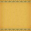Gold lotus on orange card board texture for note or congratulate Royalty Free Stock Photo
