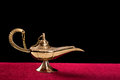 Gold magic lamp Royalty Free Stock Photography