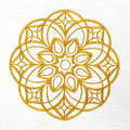 Gold mandala beautiful decorative element Royalty Free Stock Image