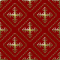 Gold and Maroon Damask Seamless Pattern Royalty Free Stock Images