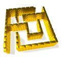 Gold maze Royalty Free Stock Image