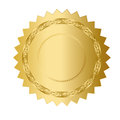 Gold medal award on white Royalty Free Stock Photography