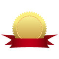 Gold medal ribbon Royalty Free Stock Photography