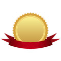 Gold medal ribbon illustration Royalty Free Stock Photos