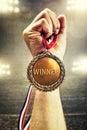 Gold medal winner Royalty Free Stock Photo