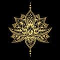 Gold mehendi tattoo