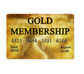 Gold membership card Royalty Free Stock Image