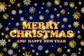 Gold Merry Christmas And Happy...