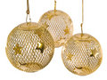 Gold Mesh Christmas Ornament 3 Royalty Free Stock Photo