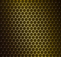Gold metal grid Royalty Free Stock Photo