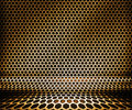 Gold Metal Hex Grid Background Royalty Free Stock Photos
