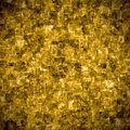 Gold metal plate illustration of a abstract background Stock Image