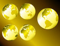 Gold metallic earth Royalty Free Stock Photo