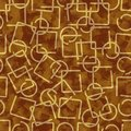 Gold metallic wire elements, abstract background in 3d design. Royalty Free Stock Photo