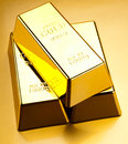 Gold and money ambient financial concept Royalty Free Stock Photo