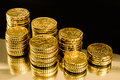 Gold Money Coins Royalty Free Stock Photo