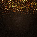 Gold mosaic background on black Stock Photo