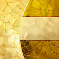 Gold mosaic background template. EPS 8 Royalty Free Stock Image