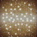 Gold mosaic vector abstract background with lights Royalty Free Stock Photo