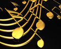 Gold musical notes Stock Photography