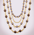 Gold necklace Royalty Free Stock Images