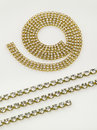 Gold necklaces and bracelets Royalty Free Stock Photos