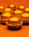 Gold Nest Egg Basket Savings Royalty Free Stock Photos