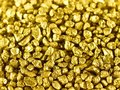 Gold nuggets macro Royalty Free Stock Photography