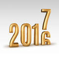2016 gold number year change to 2017 new year in white studio ro